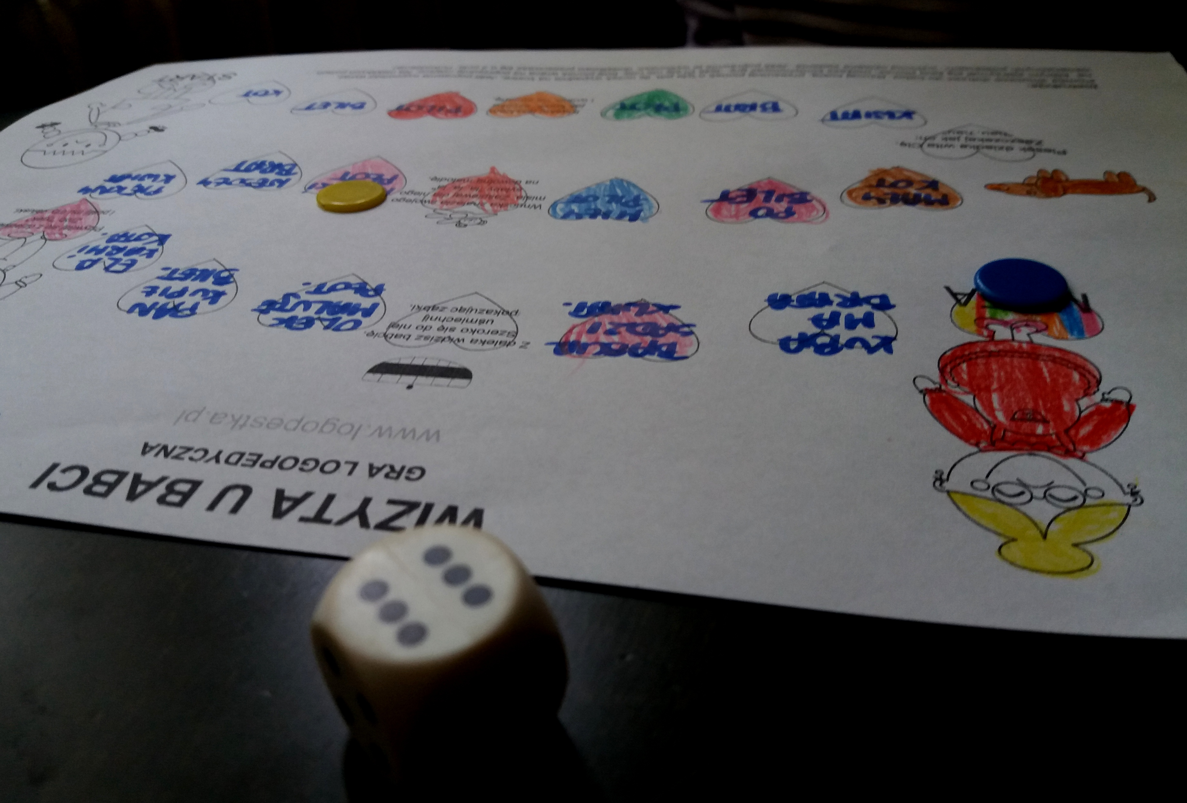 """Test gry logopedycznej """"Wizyta u babci"""""""