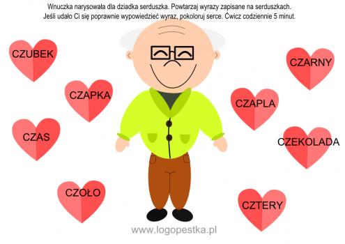 """""""Kochamy dziadka"""" – karta pracy KOLOROWA"""