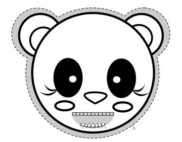Nakarm pandę – gra logopedyczna czarno-biała