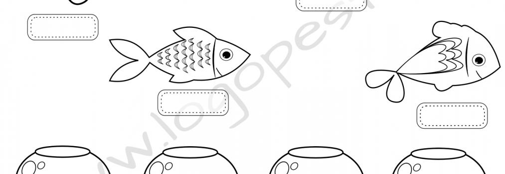 Morskie zabawy z rybkami – wersja czarno-biała