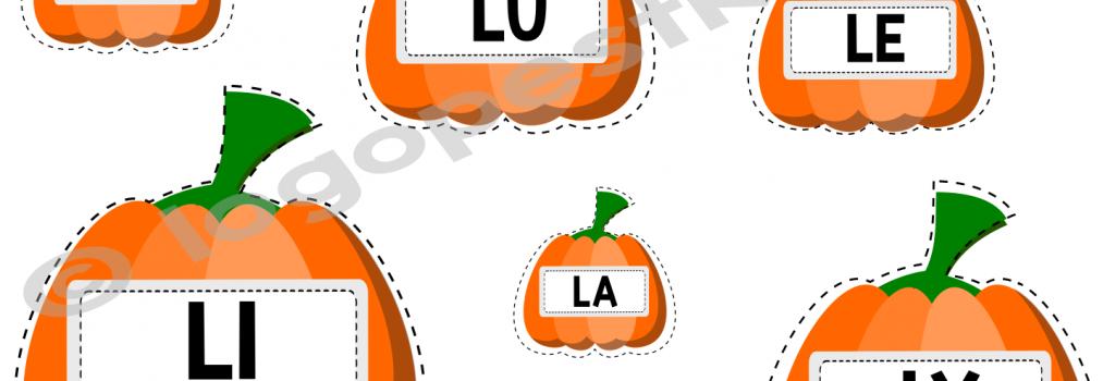 Dyniowe zabawy logopedyczne – głoska L