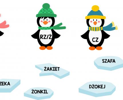 Logo-pingwiny – różnicowanie głosek szumiących