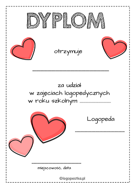dyplom serca logopestka.pl