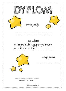 dyplom gwiazdy logopestka.pl